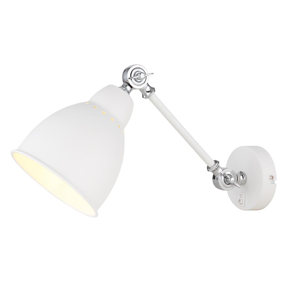 Бра Arte Lamp BRACCIO A2054AP-1WH бра artelamp a2054ap 1bk 1хe27х60